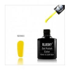 Bluesky shellac NEON 03 Насыщенный ярко-желтый