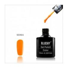 Bluesky shellac NEON 04 Насыщенный оранжевый