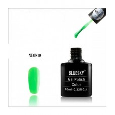 Bluesky shellac NEON 10 Яркий темно-мятный
