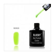 Bluesky shellac NEON 20 Яркий светло-салатовый