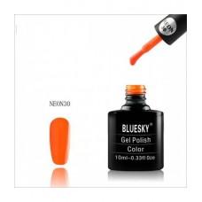 Bluesky shellac NEON 30 Пылкий оранжевый