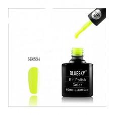 Bluesky shellac NEON 34 Яркий желтый