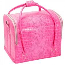 "Сумка-чемодан розовая ""Crocodile"""