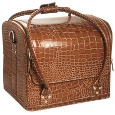"Сумка-чемодан коричневая ""Crocodile"""