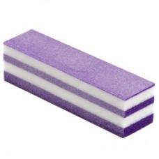 """Блок шлифовальный 4-сторонний """"Пастила"""", Фиолетовый"""