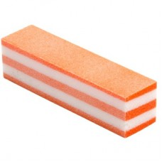"""Блок шлифовальный 4-сторонний """"Пастила"""", Оранжевый"""